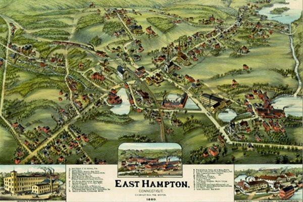 Map Of East Hampton - BATHROOMS